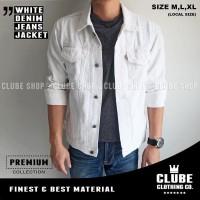 jaket jeans cowok warna putih jaket levis pria putih jaket denim