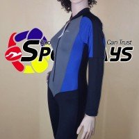 Baju Renang Panjang Speedo Diving Cewek Hitam Biru Murah Limited