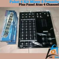 Harga paket 4 kit mixer 8 potentio plus panel atas 4 | Hargalu.com