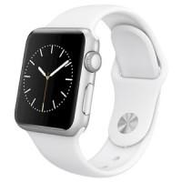 Baru - apple watch series 1 white sport band silver alumunium 38 mm