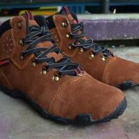 Sepatu Karrimor Hiking Outdoor Gunung Coklat Waterproof / Tnf / Eiger