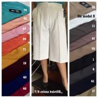 PROMO TERMURAH Kulot Pendek 3R bahan Scuba Premium Celana Wanita Big