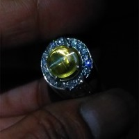 Natural Yellow Cats Eye Opal Clean HQ Body glass