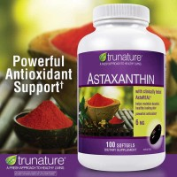 Trunature Astaxanthin 6 mg , 100 Softgels Super Antioxodant & Antiaging.