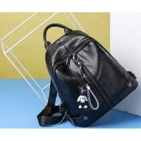 Ransel Fashion Hitam Sekolah Wanita Pergi Travel Kuliah Backpack Impor