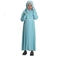 Baju Muslim Gamis Anak Perempuan Polos Biru Terbaru Murah