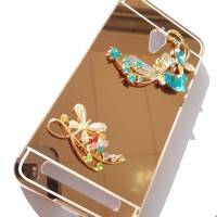 Bumper Mirror With 3D Flower Case Samsung Galaxy Mega 2 G750