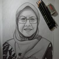 Gambar/Lukisan sketsa wajah hitam putih