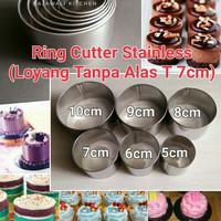 Ring Cutter 11 cm Cetakan Tart mini Cookies Kuker stainless Satuan