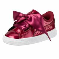Sepatu Anak - Puma Basket Heart Glam Tibetan Red (Original)