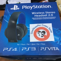 Headset Sony Gold Wireless Stereo 2.0 - Black - PS4 Psvita PS3