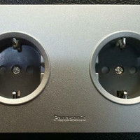 Stop kontak Panasonic wide series silver