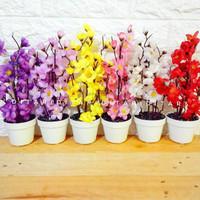 bunga sakura bunga plastik artificial palsu dekorasi rumah
