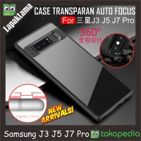 Case Auto Focus Transparan Samsung Galaxy J7 Pro / J730 2017 Softcase