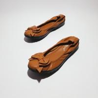 Sepatu Flat Shoes / Flatshoes Wanita Gratica AS31 Tan Kulit Jeruk