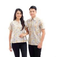 CPT039 Batik Couple Muslim Primis Lengan Panjang Seragam Baju Wanita