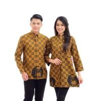 CPT037 Batik Couple Muslim Primis Lengan Panjang Seragam Baju Wanita