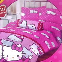Sprei Lady Rose Disperse 100 - Hello Kitty & Daniel Pink