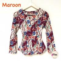 Baju Batik Wanita Modern / Batik Kantor Murah / Atasan Batik Kerja 791