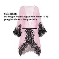 Baju Tidur Wanita Model Jubah Seksi Kimono Jepang Lingerie Sexy KS847