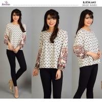 Baju Atasan Wanita Murah Blouse Casual Terbaru Lengan Panjang BONANZA