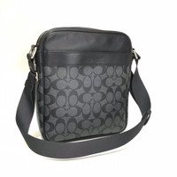 Tas Selempang Cowok Coach Original Men Flight Bag Messenger Sign Black