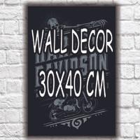 Harga hiasan dinding kayu poster motor otomotif vintage | antitipu.com