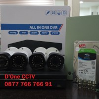 PAKET CCTV 4 KAMERA HDCVI 2MP ( INCLUDE BIAYA PASANG JAKARTA )