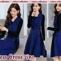 Long Dress Muslim pesta Dress cross 2in1 benhur [Dress 0153] RAY