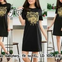 Long Dress Muslim pesta DRESS KZ BLACK [Dress 0122] RBE