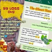 Obat Herbal Pelangsing Alami ADELL Apell plus D Lemonie Sari Lemon Mu
