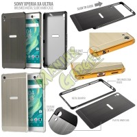 New case cover casing HP Jual Hard Brushed Metal Slide Sony Xperia XA