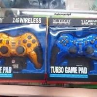 STICK GAMEPAD SINGLE WIRELESS 3 IN 1 TURBO MTECH PC PS2 PS3