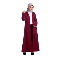 ALULA LONG CARDIGAN MAROON