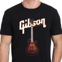 Gibson Les Paul Orange Guitar Kaos Pria Ukuran S - 2XL