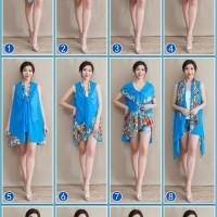 BAJU WANITA Magic Cardigan Syal Selendang Sifon Musim Panas Model Baru