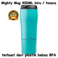 Mighty Mug 400ML Termos Botol Minum Anti Tumpah warna Biru BEBAS BPA