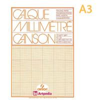 Canson Transparent Graph Paper Pad A3 /Calque Milimeter /Tracing Paper