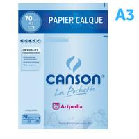 CANSON La Pochette Papier Calque A3 70gsm - Kertas Kalkir Ukuran A3