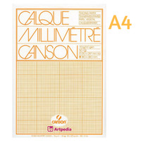 Canson Transparent Graph Paper Pad A4 /Calque Milimeter /Tracing Paper