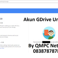 Akun Google Drive Unlimited Storage dan Email Edu Selamanya