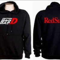 Jaket Hoodie AE86 Initial D 2 Red Suns - Roffico Cloth