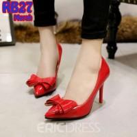high heels glossy pita red