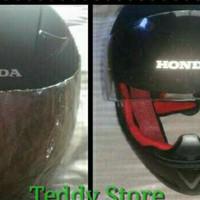 Helm Fullface Honda CBR Facelift Hitam original Ahm ukuran Standar