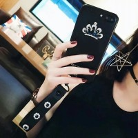 crown strap glam soft case hp oppo f5 / f5 youth