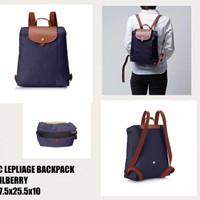 Longchamp Lepliage Bilberry Backpack. tas wanita branded original