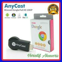 Anycast Wifi Nirkable Receiver 1080p HDMI model dogle untuk display