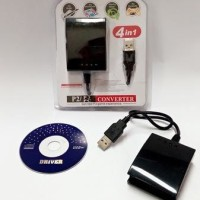 Ps2 To Ps3 / Pc Stick Controller Adapter Usb Converter 4 In 1
