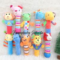 rattle stick bayi / boneka rattle binatang / mainan bayi