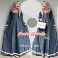 Maxy Namira Umbrella Jeans-Baju gamis semi jeans-Gamis modern-AL